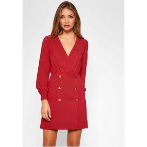 TOPSHOP RED BLAZER STYLE DRESS ❤️
